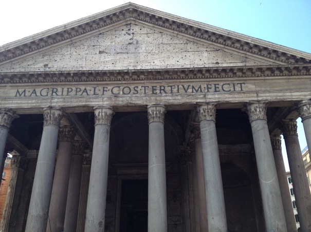 Pantheon is derived from the Ancient Greek